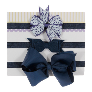 3 шт./лот, лента для волос с бантом для девочек, детская эластичная повязка на голову с цветочным принтом, реквизит для фотографий, милые пода...