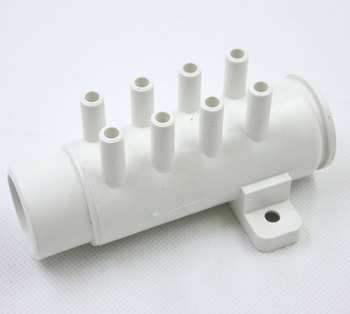 8 otworów PVC rozdzielacz powietrza 1 #8222 x 8mm rozdzielacz powietrza do wanny i jacuzzi spa 30-168 tanie i dobre opinie OLOEY Z tworzywa sztucznego CN (pochodzenie) NONE Brak Other Sprzęt do kąpieli
