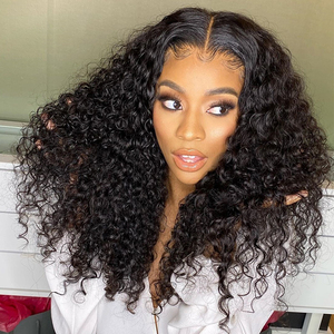 Deep Curly 360 Lace Frontal Wig 13x6 Lace Front Human Hair Wigs 250 Density Fake Scalp Brazilian Transparent Lace Wigs Dolago(China)