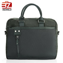 BZIXILU soft handle business laptop briefcase leather men designer handbags high quality luxury handbags briefcase men(China)