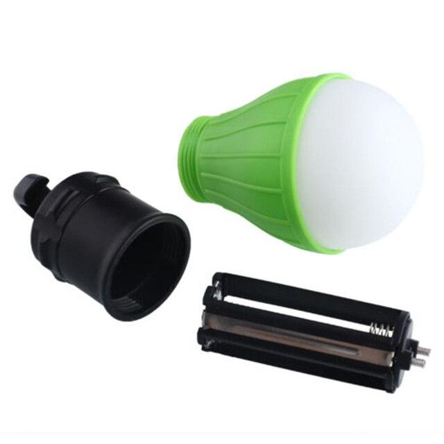 Mini Portable Lantern Tent Light LED Bulb Emergency Lamp Waterproof Hanging Hook Flashlight For Camping 4 Colors Use 3*AAA 6