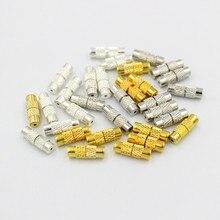 20 pçs 4x12mm colar conector bronze coluna parafuso fechos barril parafuso fecho para pulseira colar fazer descobertas