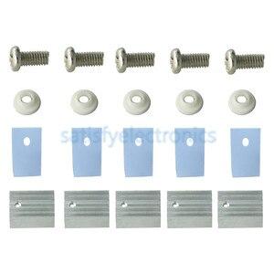 10PCS TO-220 Silver Heatsink Heat Sink for Voltage Regulator or MOSFET With Screws Radiator Heatsink Cooler 20x15x11mm(China)