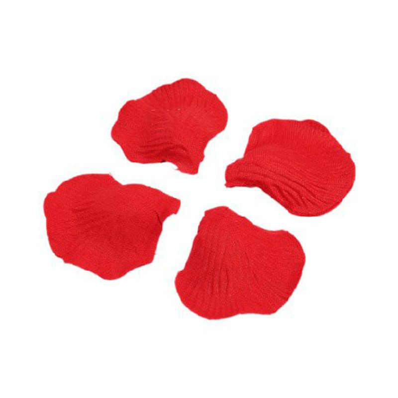 1000 sztuk realistyczne sztuczne jedwabne czerwone płatki róży dekoracje na konfetti na przyjęcie weselne wydarzenie sztuczny kwiat róży dziewczyna Toss płatek