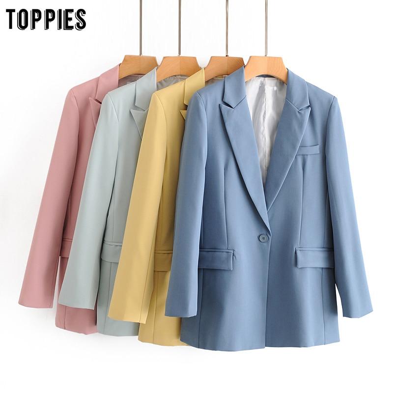 Toppies Summer Thin Blazer Jackets Womens Formal Suit Set Ladies Two Piece Set Single Button Blazer High Waist Suit Pants