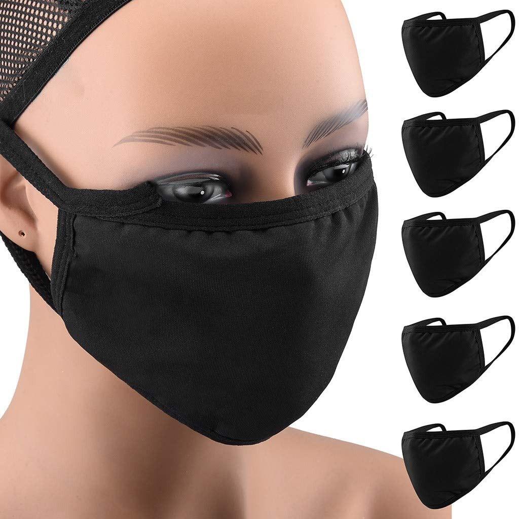 5 pçs lavável e reutilizável moda máscara facial tecido máscara boca capa anti poeira mascarilla feminino masculino máscara de proteção