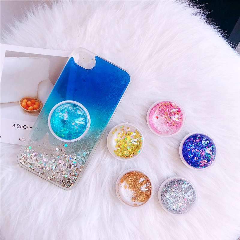 Luxury Phone Expanding Socket Stand Grip For Smartphones Finger Holder Pineapple Pattern  Earphone Winder For Xiaomi For Iphone