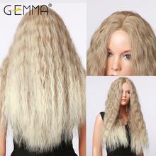 Длинные волнистые парики gemma с эффектом омбре коричневые пепельно