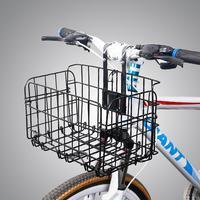 Big Cuboid Folding Steel Wire Front Bag Rear Hanging Basket Bike Accessories Mountain Bike Commuter Car Bike Cargo Rack