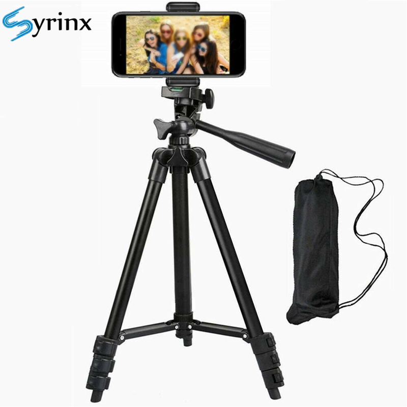 Aluminium Adjustable Tripod Holder Mount Holder Clip For Live Phone Stand For Canon Camera For IPhone XR XS For Youtube Support