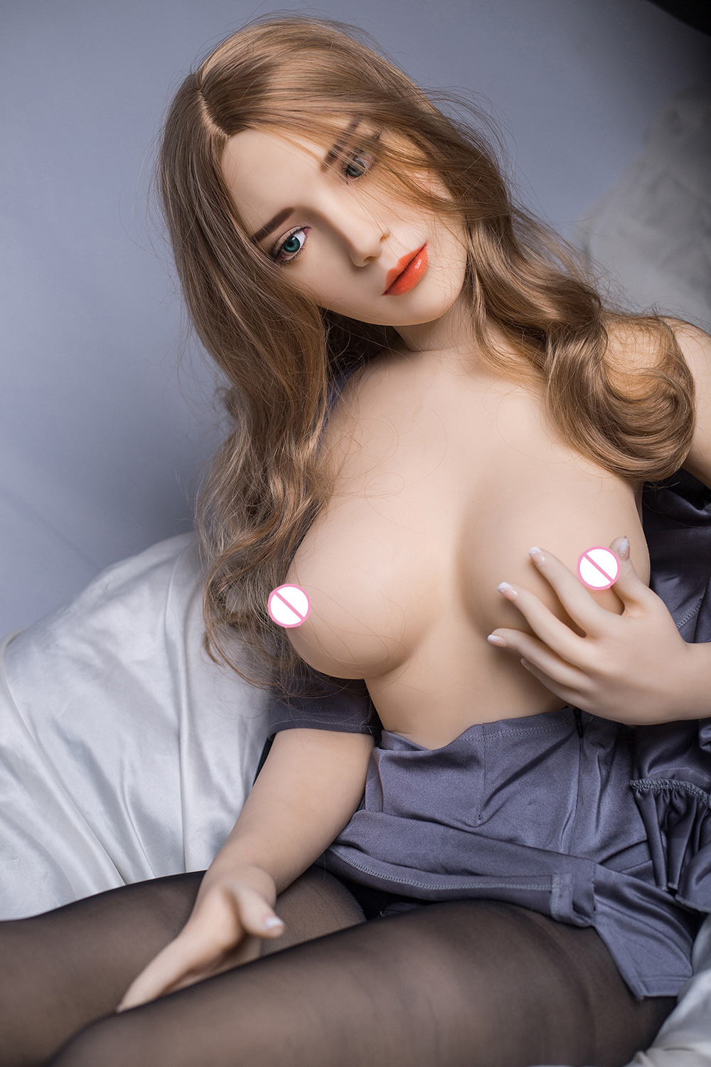 <font><b>Silicone</b></font> Lifelike Full Body TPE <font><b>Sex</b></font> <font><b>Doll</b></font> Realistic Sexual 3 Holes with Real Oral, Anal, Vaginal <font><b>sex</b></font> 170cm 5.57ft <font><b>Torso</b></font> Big Boobs image