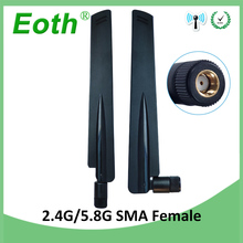 20PCS 2.4GHz 5.8Ghz Dual Band wifi Antenna 8dBi RP-SMA Omni-Directional WIFI aerial SMA female wireless router цена и фото
