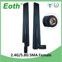 цена на 20PCS 2.4GHz 5.8Ghz Dual Band wifi Antenna 8dBi RP-SMA Omni-Directional WIFI aerial SMA female wireless router