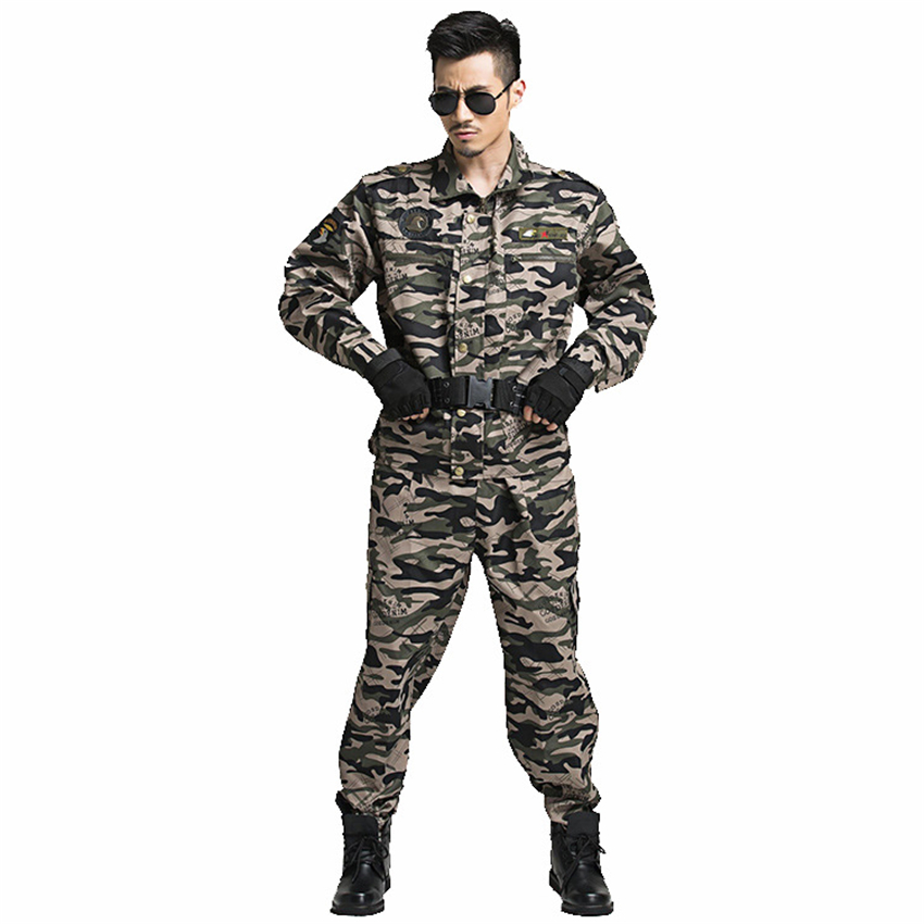 Military Uniform Tactical Camouflage Combat Clothing Men Army Special Forces Soldier Training Work Wear Adult Clothes Pant Set 6