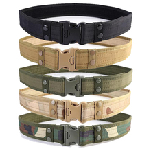 цена на Combat Canvas Duty Tactical Sport Belt  Army Military Adjustable Outdoor Fan Hook  Loop Waistband Back Support