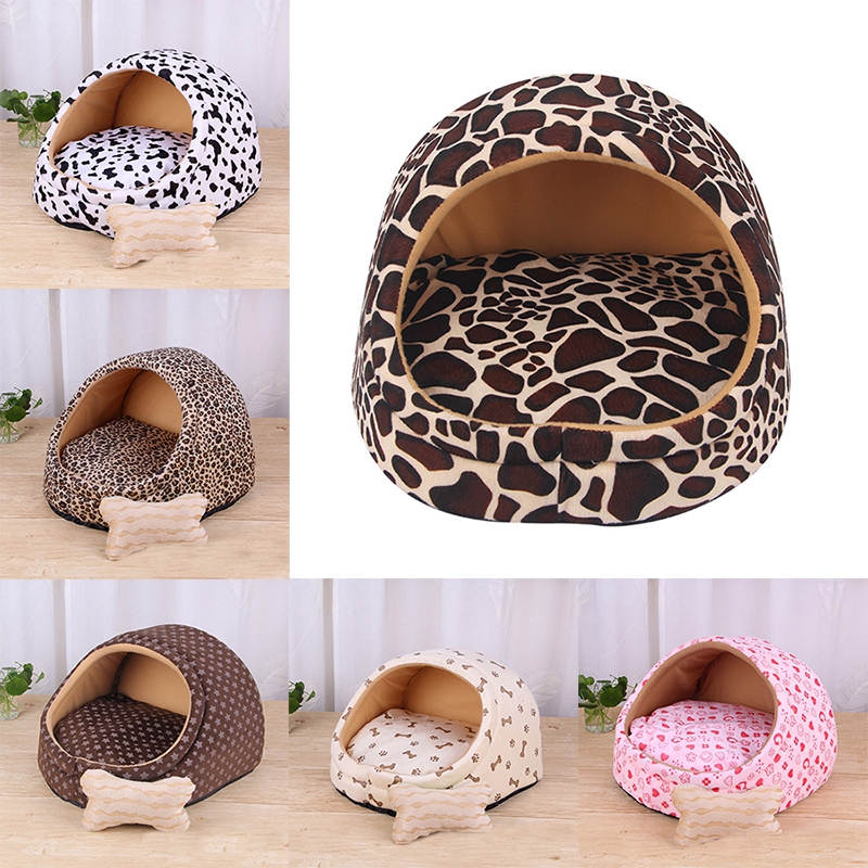 Warm Puppy Dog font b Pet b font Bed House Cute Removable Dog Cat Beds for