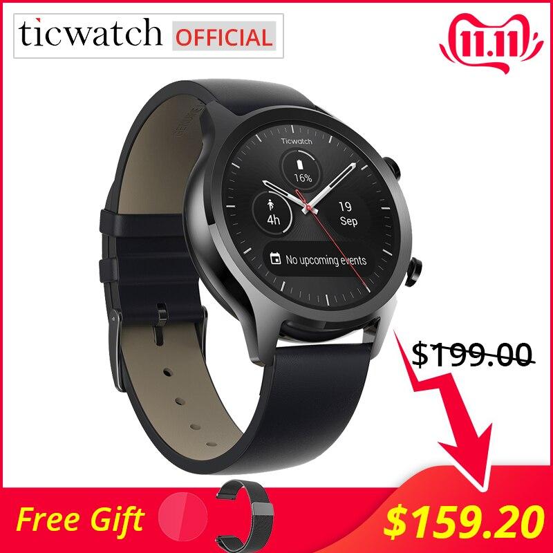 Ticwatch c2 smartwatch android wear os built-in gps monitor de freqüência cardíaca rastreador de fitness google pagar 400 mah 1-1.5 dias 1.3 amamamoled