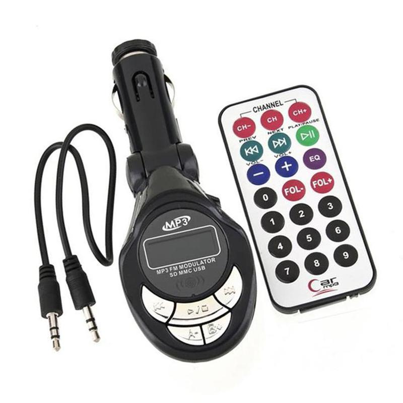 Car MP3 Music Player Latest Styles MP3 Player Wireless FM Transmitter Modulator USB SD CD MMC Remote XRC Car Styling