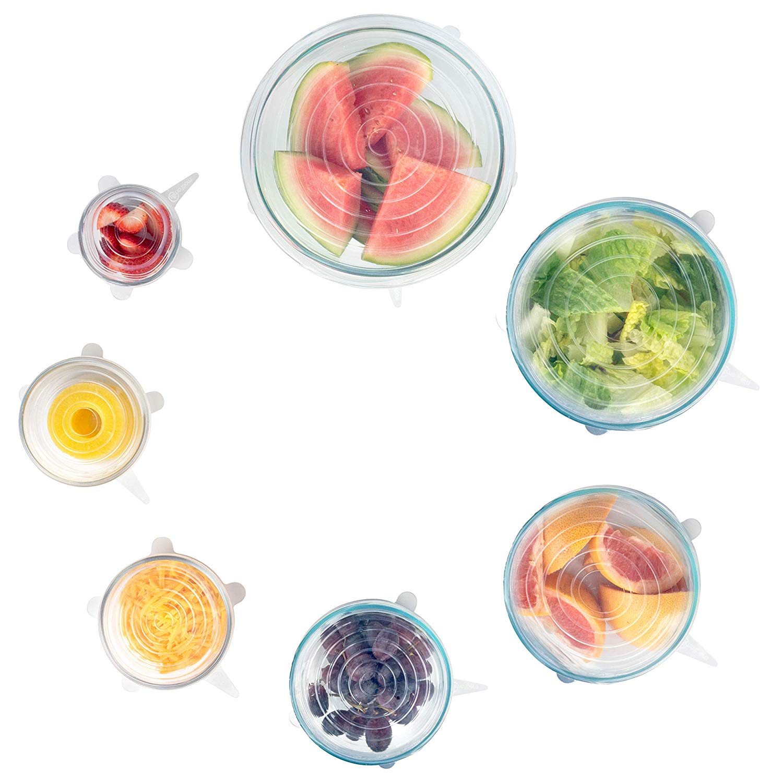 6 Pieces Food Grade Silicone Stretch Lids
