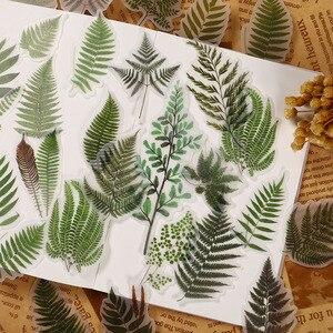 40 шт./упак. винтажная большая наклейка с листьями растений, сделай сам, скрапбукинг, альбом, декоративные наклейки