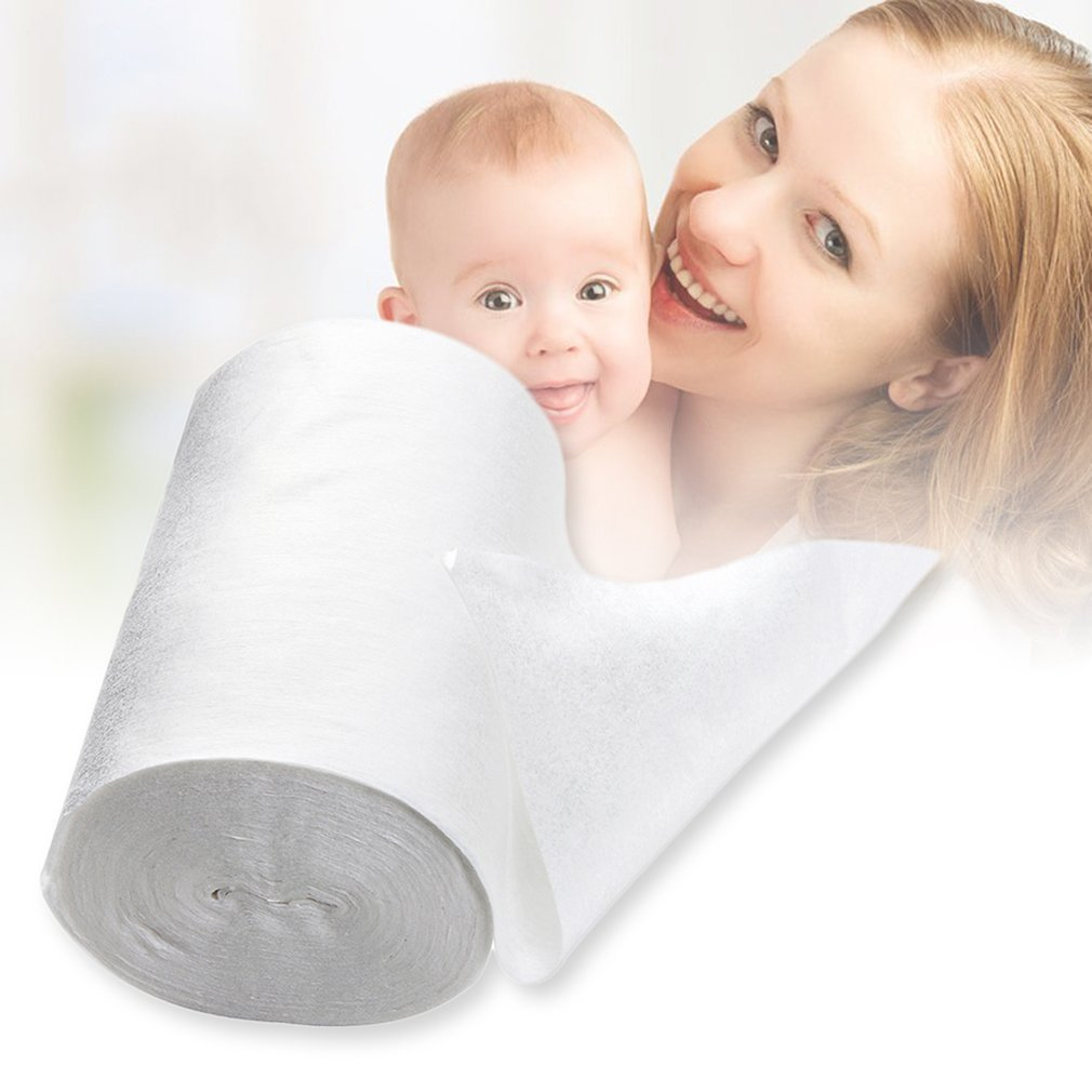 Baby Flushable Biodegradable Disposable Cloth Nappy Diaper Insert Bamboo Liners 100 Sheets For 1 Roll 18cmx30cm For 3-15Kg Baby