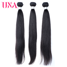 UNA Malaysian Human Hair 3 Pieces Pack #1 #1B #2 #4 Straight Remy Hair Weft Human Hair Weave Bundles 8-28 Inches стоимость