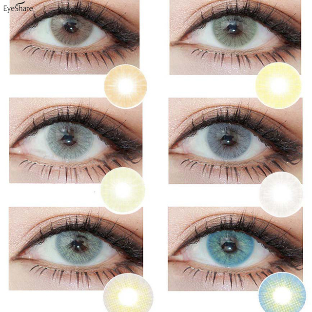 EYESHARE 1 Pair (2pcs)  Natural Crystal  Color Contact Lens for Eyes Cosmetic  Contact Lenses  Eye Color