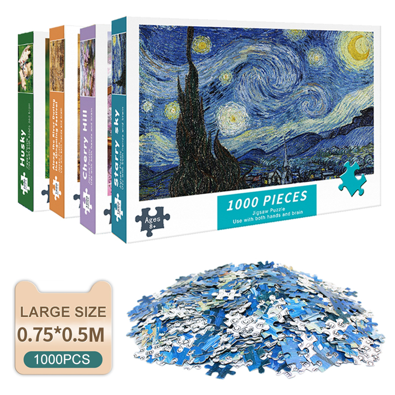 Puzzles for Adults 1000 Pieces Paper Jigsaw Puzzles Educational Intellectual Decompressing DIY Large Puzzle Game Toys Gift 1