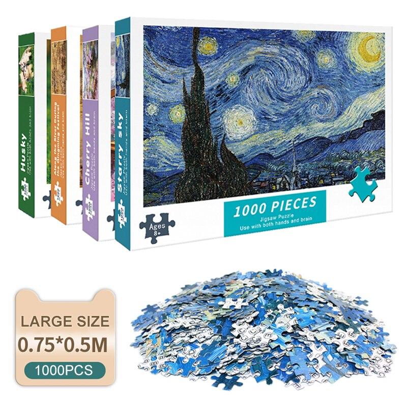 Пазлы для взрослых 1000 шт, пазлы, обучающая интеллектуальная распаковки DIY большой головоломка игра игрушки подарок|Пазлы|   | АлиЭкспресс