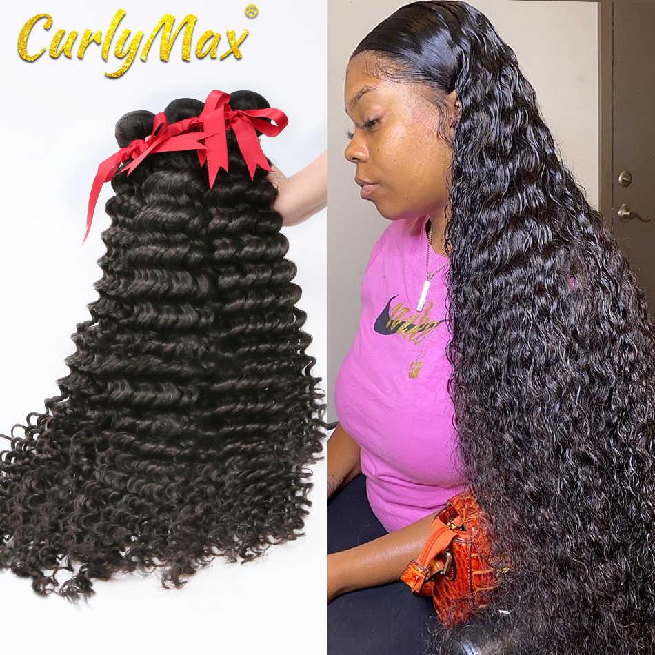 Tiefe Welle Menschliches Haar Bundles Haar Tiefe Welle 8-40 Brasilianische Menschenhaar Spinnt Bundles tiefe welle haar reines haarwebart