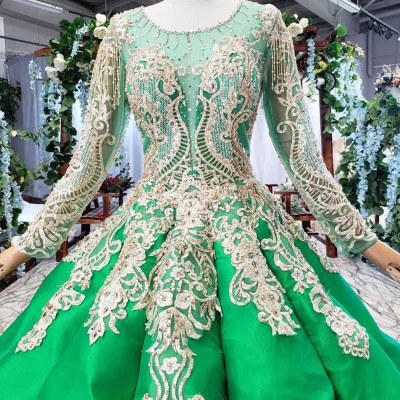HTL745 мусульманское свадебное платье из Китая с круглым вырезом и длинным рукавом бальное платье до пола свадебное платье найти магазин vestido de novia