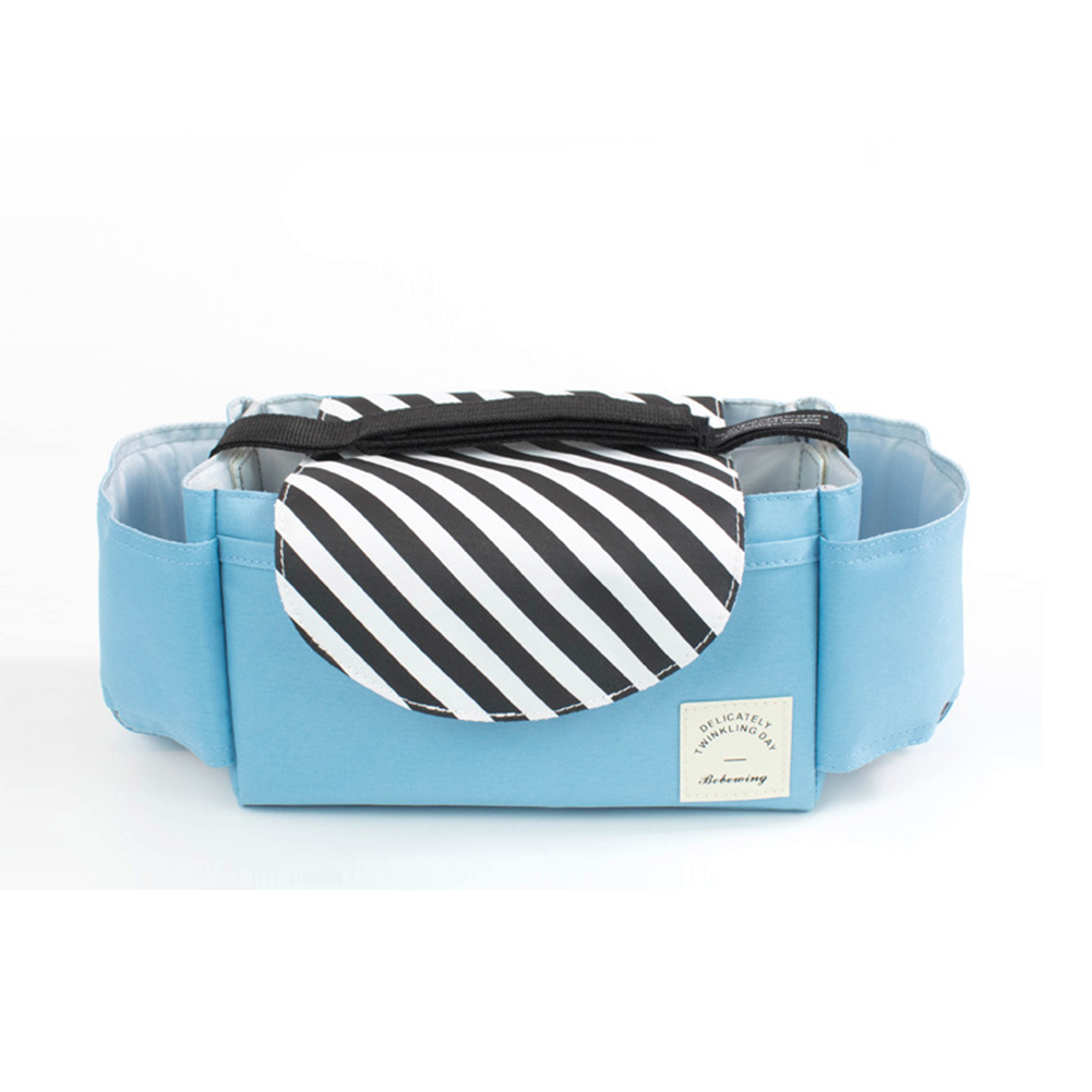 Baby Stroller Pram Buggy Pushchair Multifunctional Diaper Pocket Basket Storage Bag Convenient Organizer Cup Holders Accessories