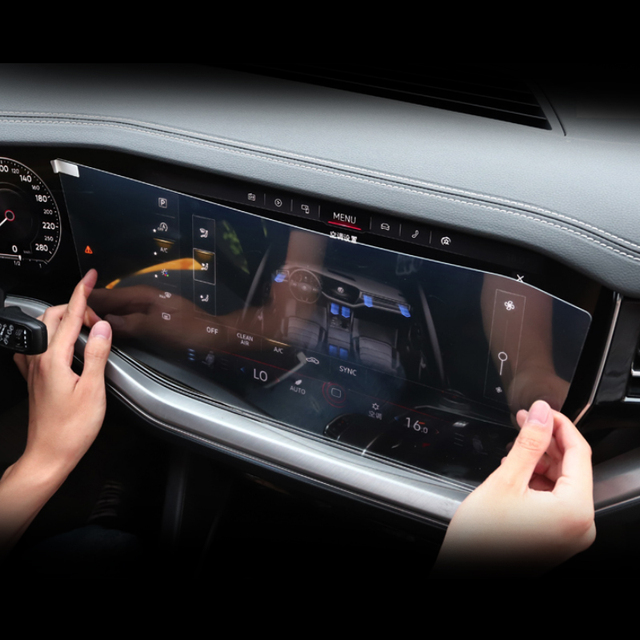 Car Styling For Volkswagen Touareg CR 2019-Present GPS Navigation Screen Film Dashboard Display Screen Film Interior Sticker 2