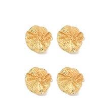 AU -4Pcs Metal Lotus Leaf Napkin Ring Restaurant Napkin Ring Napkin Buckle Jewelry Towel Ring Decoration