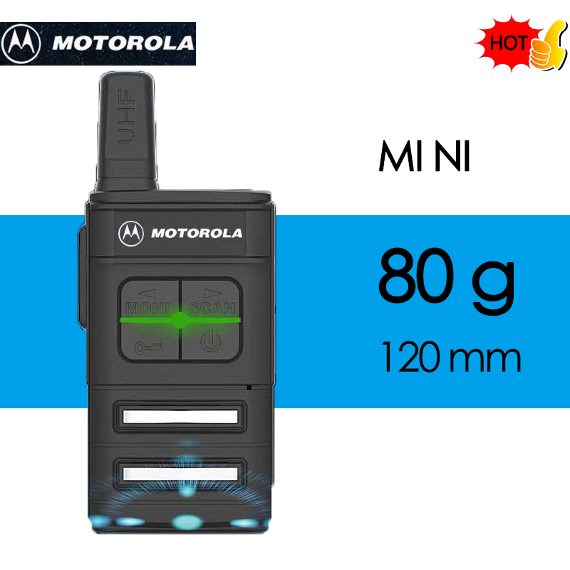 MOTOROLA Walkie Talkie Hotel, Construction Site, Tourism Outdoor Handheld Mini   Civil Portable Transceiver With Earpiece
