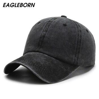 Nueva gorra de béisbol negra lavada informal para hombre y mujer, Gorra lisa Retro para primavera y otoño, gorra de béisbol pintada a mano con grafiti para hombre