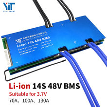 Li ion 3.6V / 3.7V 14S 48V BMS electric scooter battery accessory protection board with balanced temperature control PCB