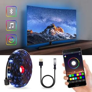Image 1 - DC5V USB LED streifen 5050 RGB RGBW RGBWW 50CM 1M 2M TV Hintergrund Beleuchtung Flexibe LED streifen klebeband IP20/IP65 wasserdicht