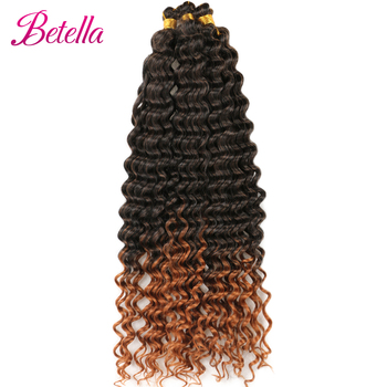 Deep Water Wave Twist Crochet Hair Crochet Braid Ombre Braiding Hair Extensions Synthetic Afro Curls For Women Low Tempreture 4