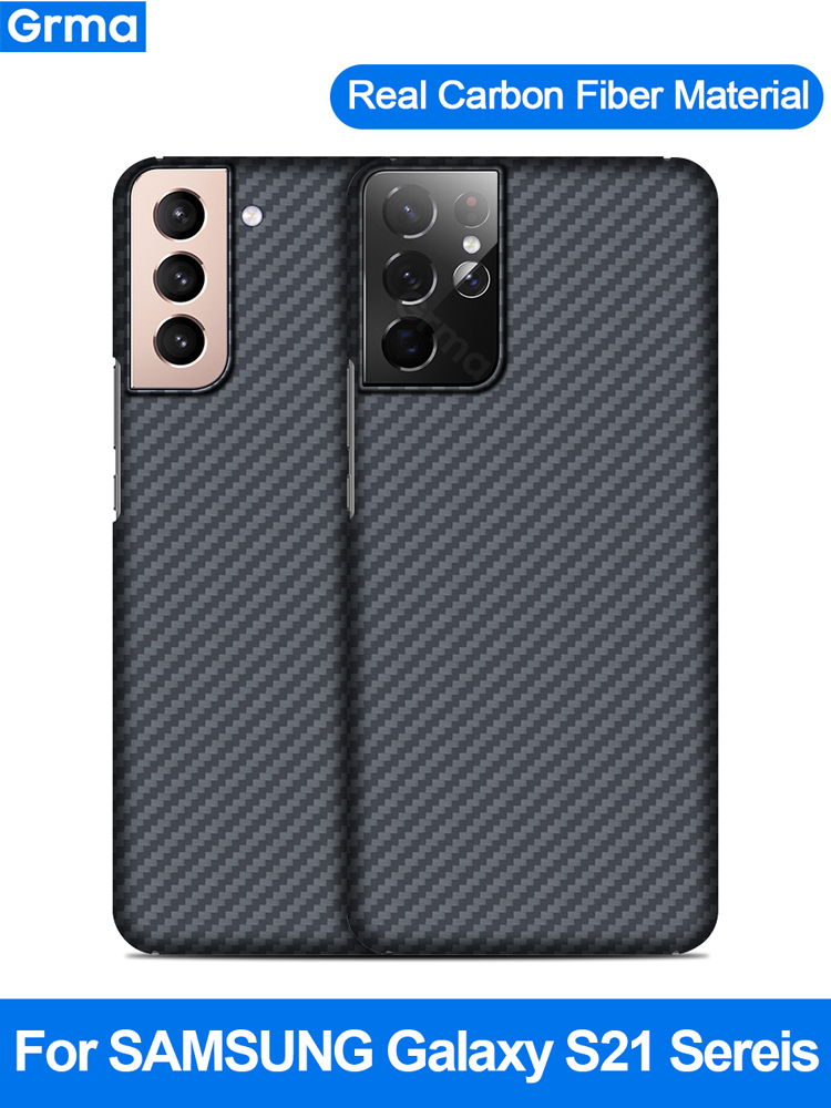 Grma Original 100% Real Carbon Fiber Phone Case For Samsung Galaxy S21 S20 Ultra Phone Cover Anti-Fall Galaxy S21 S20 Plus Shell