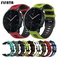 FIFATA de silicona Correa de reloj blanda correas para Xiaomi Huami Amazfit GTR 2 2e 47mm 42mm ritmo Stratos GTS Bip 20/22mm pulsera Correa