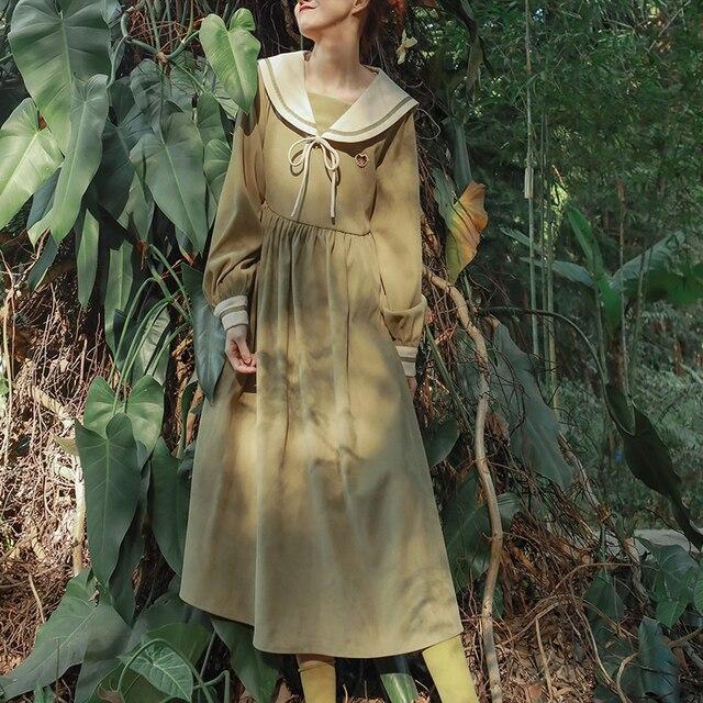 Купить японское платье лолиты с матросским воротником и высокой талией картинки цена