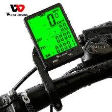 WEST BIKING ordenador para bicicleta, con pantalla grande de 2,8 pulgadas, inalámbrico, con cable, velocímetro, odómetro, cronómetro para ciclismo