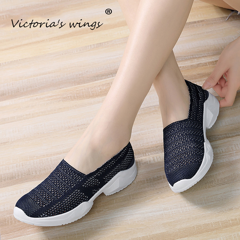 New Victoria's wings 2020 summer new ladies flat sneakers shoes breathable autumn non-slip walking mesh shoes casual loafers