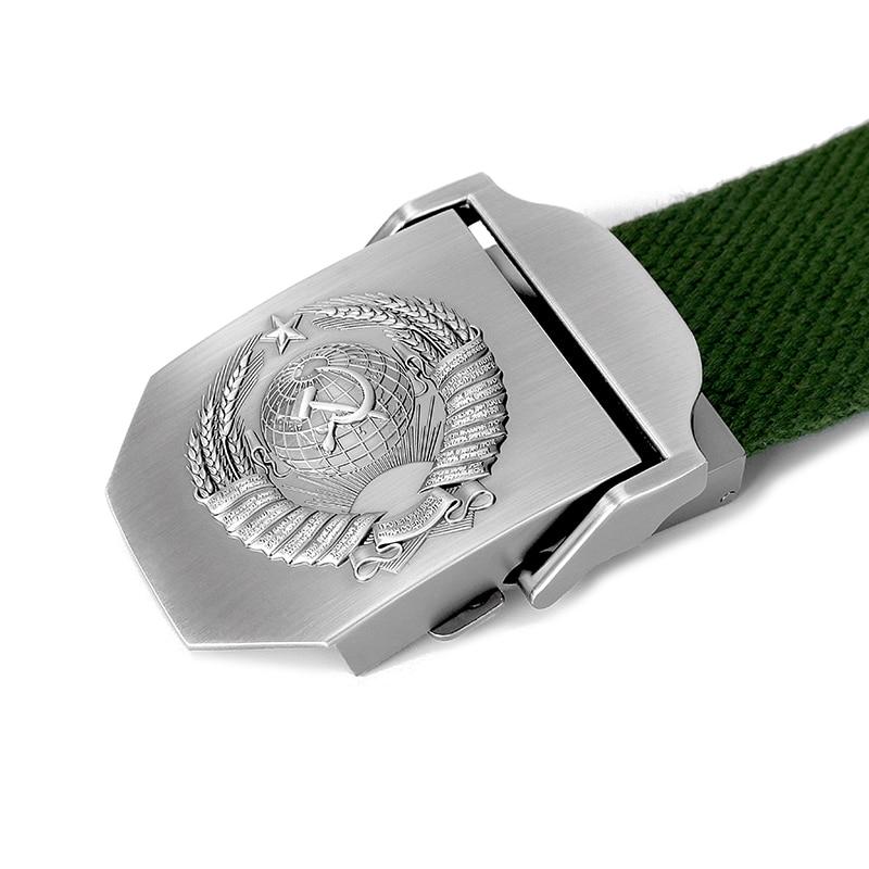 MenS Belt Men /& Women Belt 3D Soviet National Emblem Canvas Military Belt Soviet Memory Jeans Tactical Belt