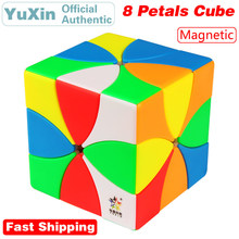 YuXin ZhiSheng 8 Eight Petals M Magnetic Magic Cube Curve Creative Modeling Speed Puzzle Brain Teasers Educational Toys For Kids cube curve allroad 2015