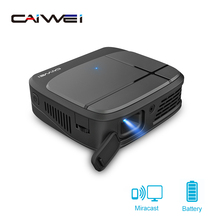 Caiwei H6AB Full HD Mini DLP Projector Smart Bluethood 4.0 Android 7.1.2 OS Protable Video Led Home Cinema 4K Beamer WIFI 5G