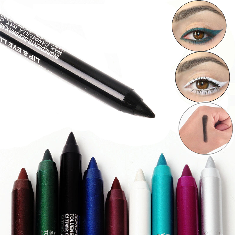 2019 Long-lasting Eyeliner 12 Colors Eye Liner Pencil Pigment Waterproof Eyeliner Pen Eye Cosmetics Makeup Tools Delineador Ojos