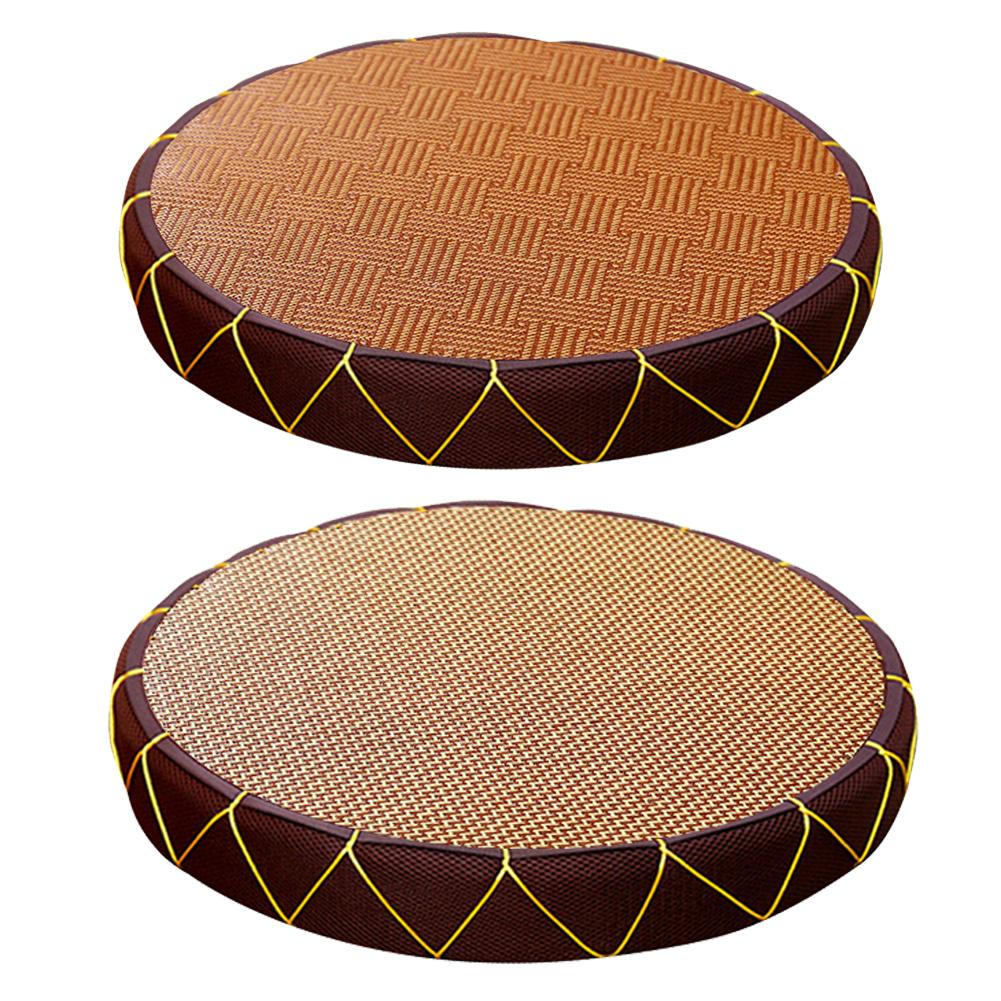 Straw Floor Cushion Japanese Style Handcratfed Wicker Mat Yoga Flat Meditation Pillow Tatami Cushion Handmade Seat Mat Decor
