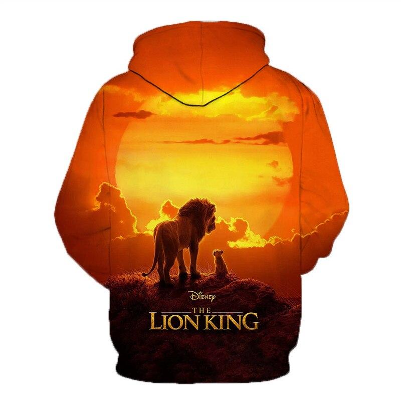 2019 New Disney Lion King 3D Printed Hooded Sweatshirts Men Women Fall Winter Streetwear Hoodies Lion King Men's Casual Pullover